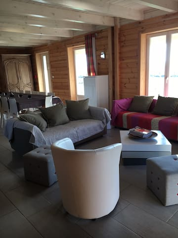 Superb wood home 17 pers and spa - Bernay-en-Ponthieu - Ev