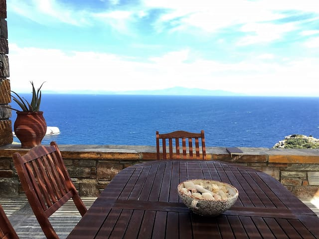 Aegean Blue Sea Views-Family friendly House 3bdrms - Kéa - Hus