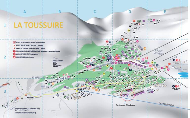 SYBELLES - Grand studio - 180° plein sud au soleil - Fontcouverte-la-Toussuire - Lyxvåning