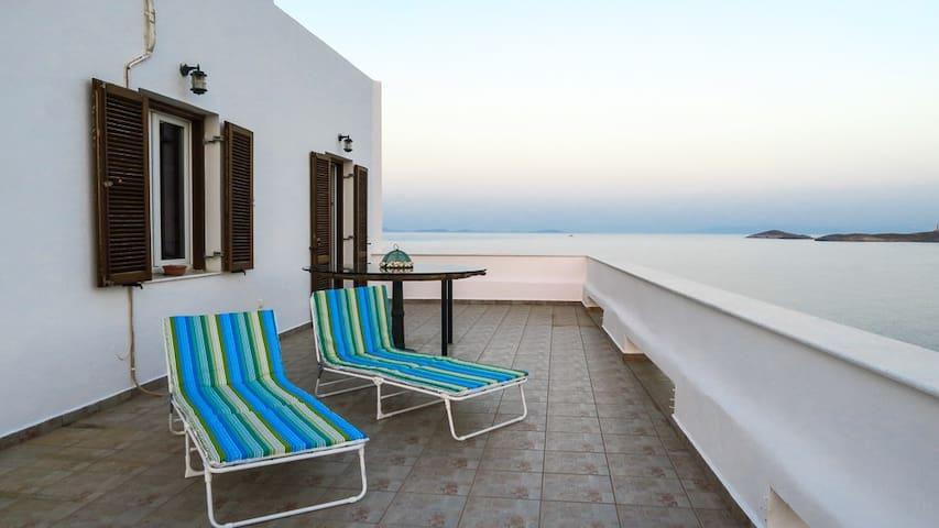 Aegean sea view in Syros island, GREECE - Ermoupoli - Dom