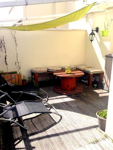 Bel appartement & terrasse, centre ville de Tarbes - Tarbes - Leilighet