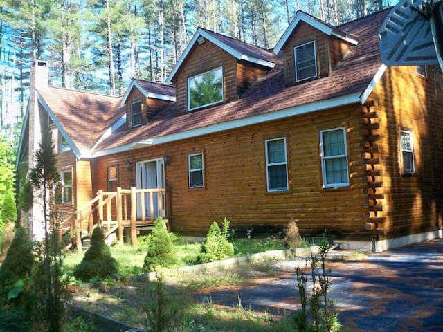 Spectacular log home with pool - Campton - Ev