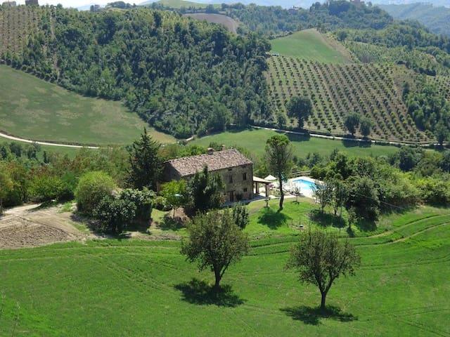 Ca La Piera, Pesaro e Urbino, tranquil manor house - Marche - 別荘