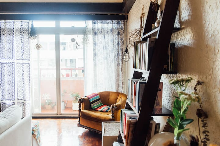 Lovely Private Room MRT 3 mins walk Central Taipei - Songshan District - Apartamento
