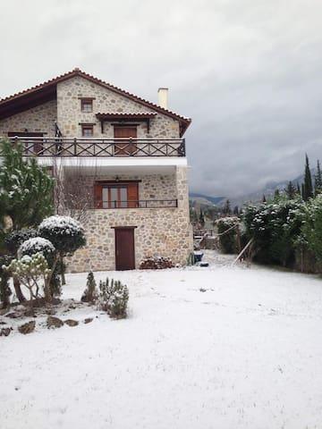 Πέτρινη Μεζονέτα Πολύδροσος Παρνασσού Φωκιδας - Polydrosos - Casa