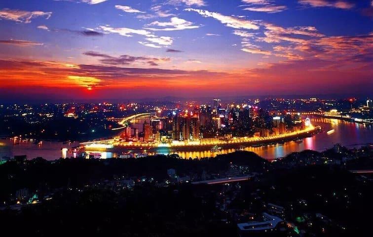 近解放碑洪崖洞旁的一线江景阳光充沛两室套房(地铁直达) - Chongqing - Byt