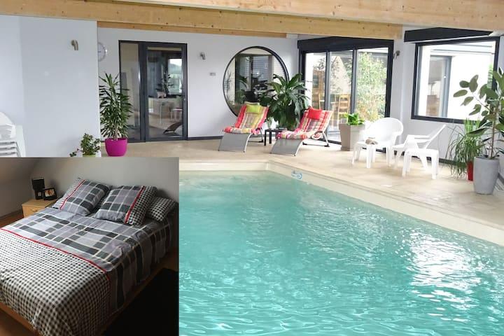 Chambre2,piscine, billard ,fitnessG - Dernancourt - Σπίτι