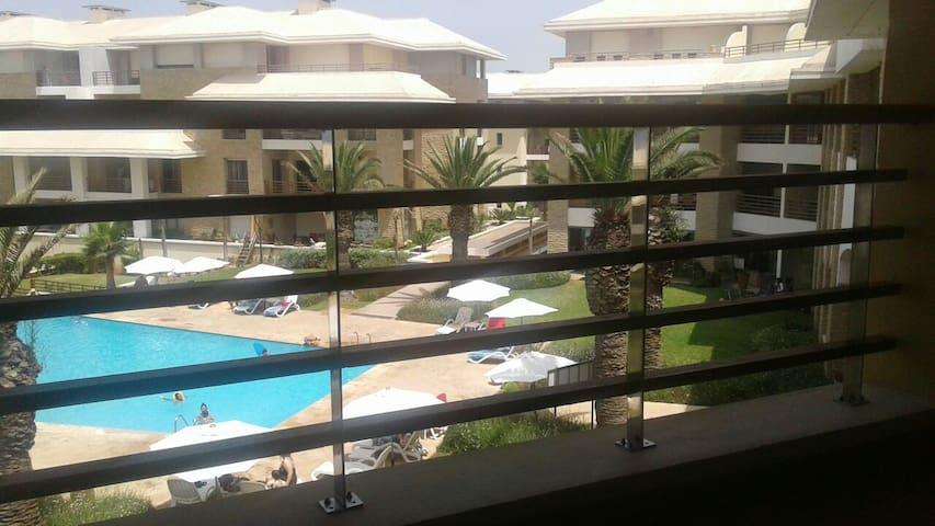 Bel appartement vue sur mer piscine - Sidi Bouknadel - Appartement
