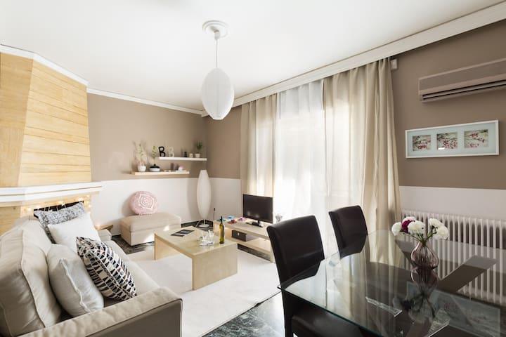 Cosy-relaxing flat next to Metro - Chalandri - Daire