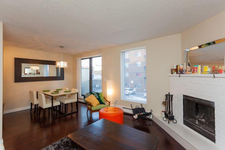 Lovely room in Mission area - Calgary - Leilighet