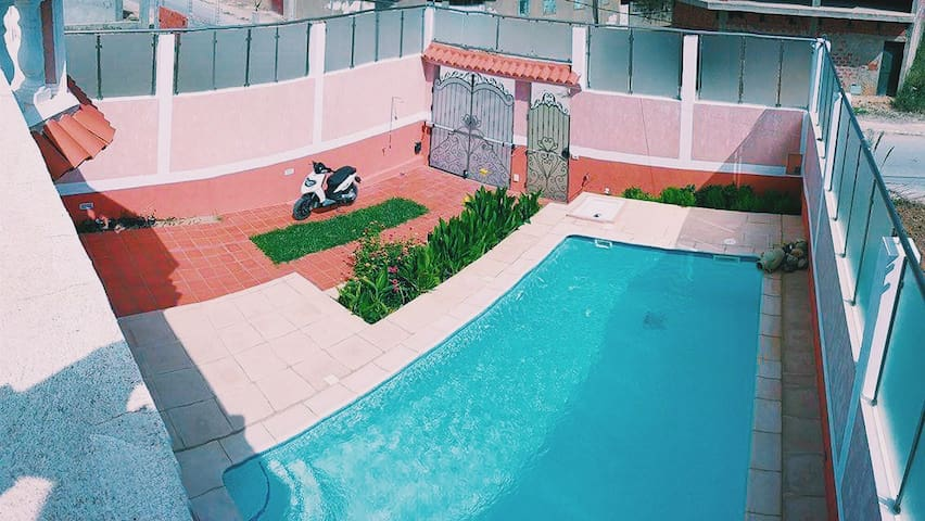 tunisia beach villa with swimming pool - Raf Raf - Haus