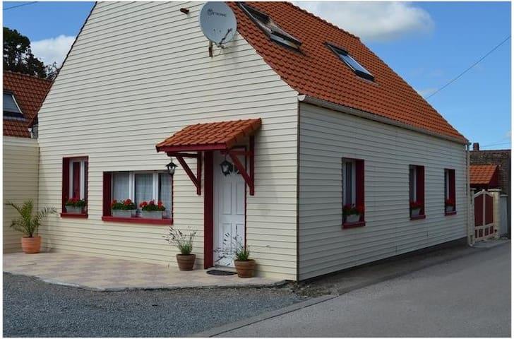 Maison Gîte 4pers - Proche Calais - Landrethun-lès-Ardres - Huis