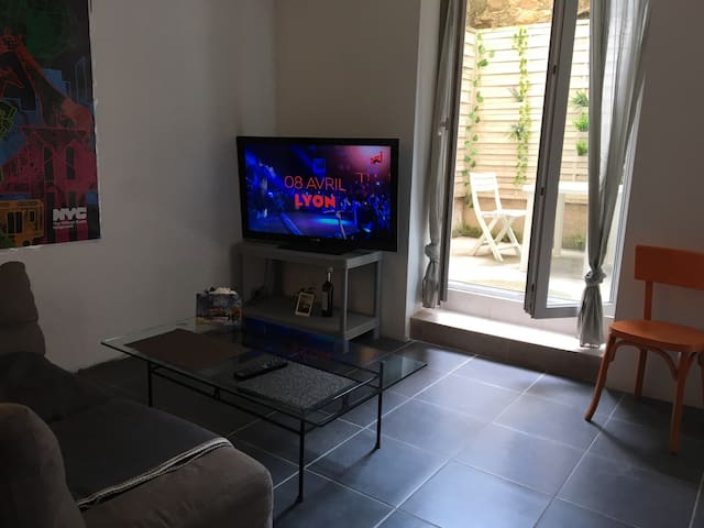 Studio 2 pers cour intime coeur Bastide - Carcassonne - Appartement