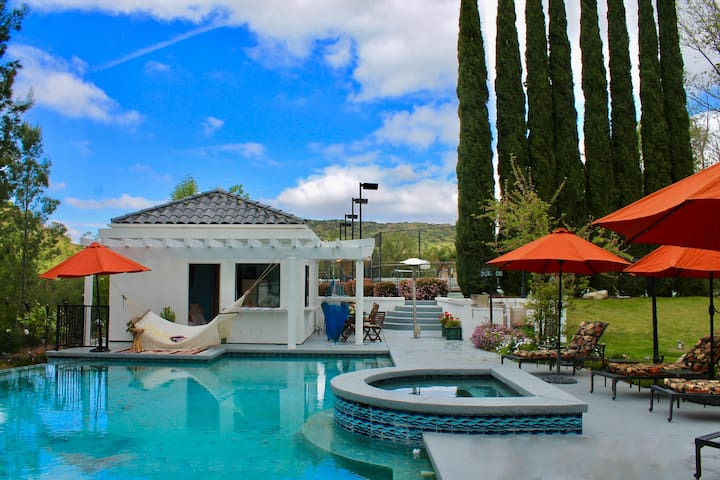 Poolside Private Casita - For a Relaxing Getaway - Bell Canyon - Huis