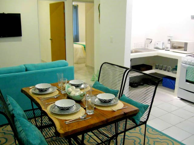 Fully Equipped Apartment. 7 Minutes from the Beach - Puerto Morelos - Apartment