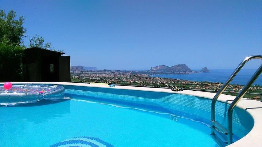 Detached Villa in a natural reserve with pool - Altavilla Milicia - Rumah