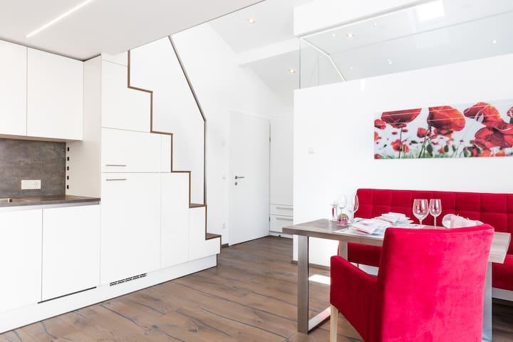 Designer-Appartement mit XXL-Terrasse, free WLAN - Brunn - Leilighet