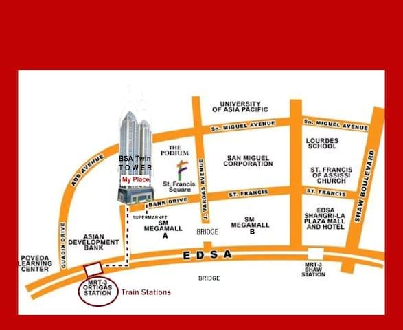 *Condo (BSA) Right Across SM MEGAMALL, Ortigas - Mandaluyong - Kondominium