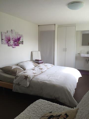 Grosses, ruhiges, Zimmer mit gratis Parkplatz - Oberuzwil - Hus