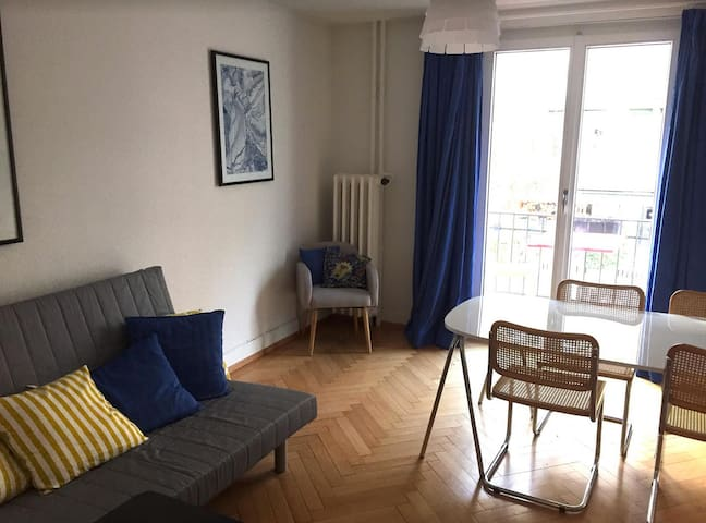 Room in trendy area with 10 min to main Station - Zürich - Appartement
