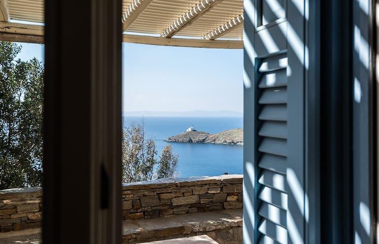 comfortable flat, sea view & pool - Kéa