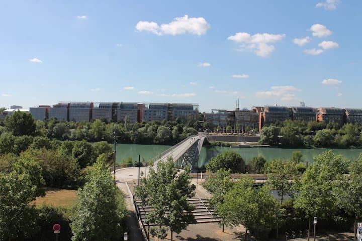 Loft avec vue, Parc - Cité Internationale Lyon - Caluire-et-Cuire - Loteng Studio
