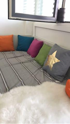 学生公寓中的单人床 - 皮尔马森斯 - Departamento