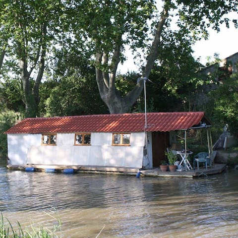 Houseboat  with terrace on CanalduMidi - Argens-Minervois - Båt