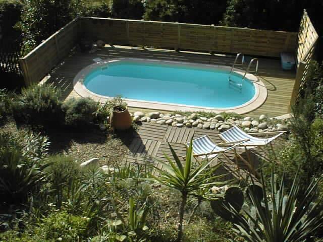 Maison de village avec piscine - Laurens - Huis