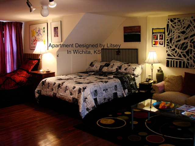 Private Apartment/Home New Beds, 2min. to Downtown - Wichita - Appartement