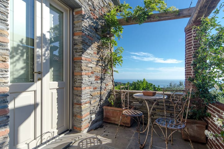 Charming Rustic House with seaview  - Lavagna - Hus