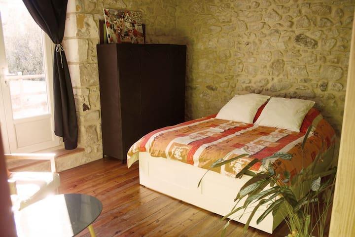 Chambre à la campagne, salle de bain et wc privés - Préchac - Дом