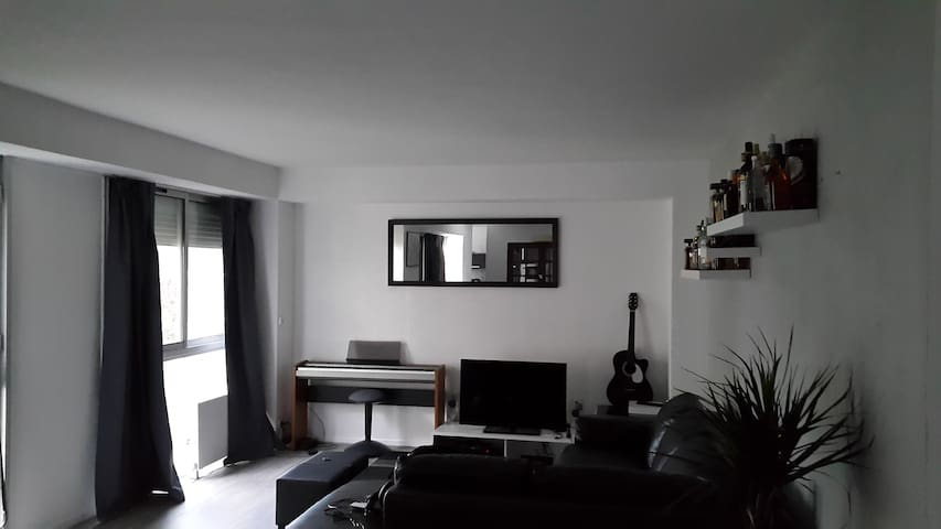 Chambre privée-grand appartement - Le Petit-Quevilly - Apto. en complejo residencial
