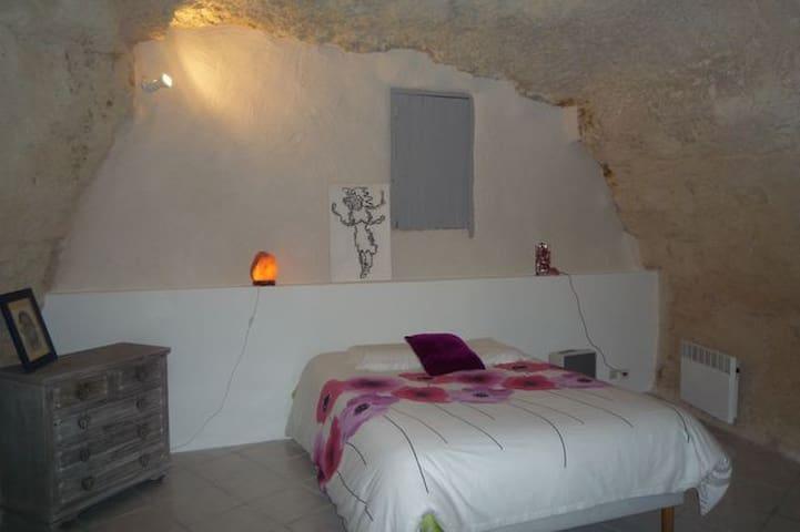 limeray) chambre dans habitat semi-troglodyte - Limeray - Casa de huéspedes