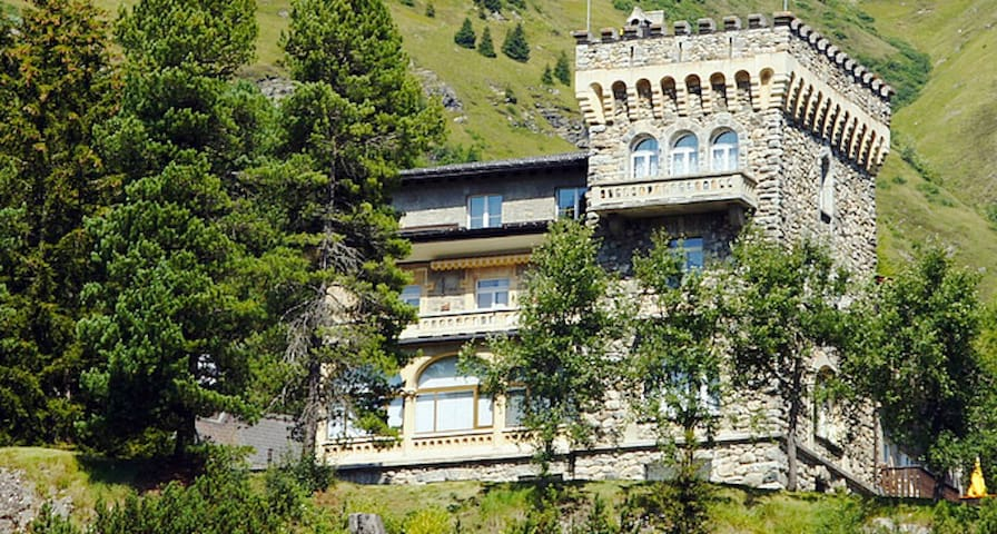 Sunny apartment in a castle in the Swiss Alps - Davos - Apartament