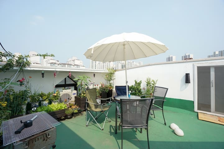 Party on the Roof-Top (Enjoy BBQ in the City) - 성남시 - Loft