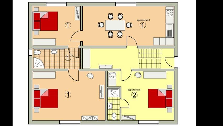 2 helle, neuwertige Appartement - Straubing - 公寓