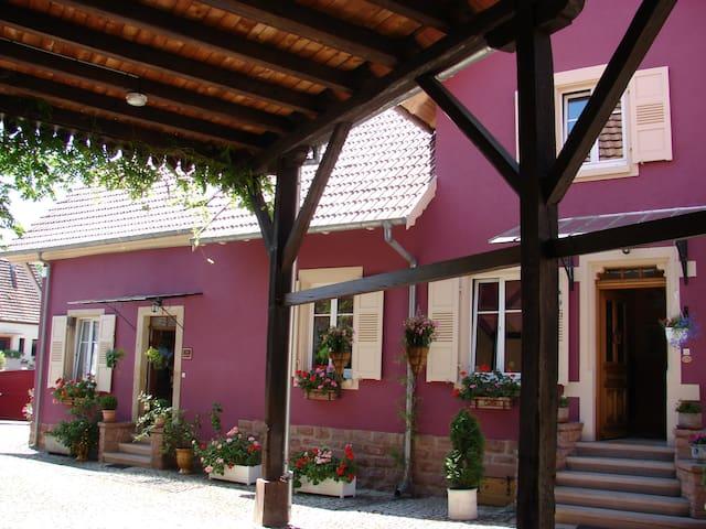 Corps de ferme, 3 pièces proche Obernai et Vosges - Stotzheim - Huis