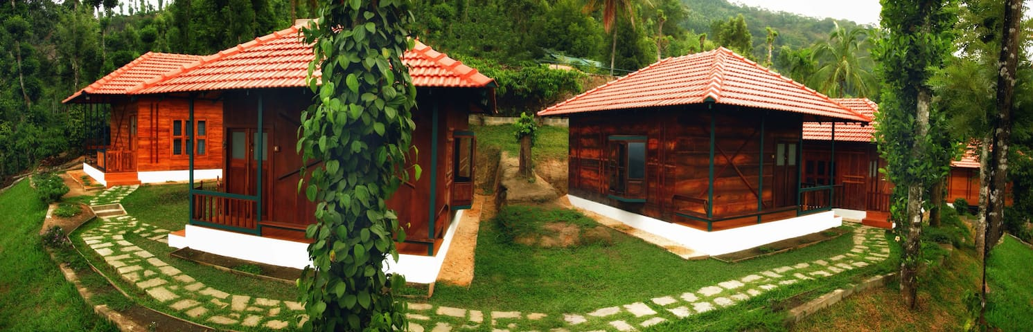 wooden cottages - Wayanad
