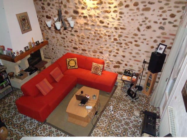 Maison de village 140m2 avec garage - Banyuls-dels-Aspres - Radhus