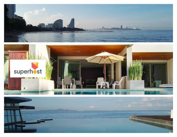 Fantastic Beachfront Pool Access - Muang Pattaya