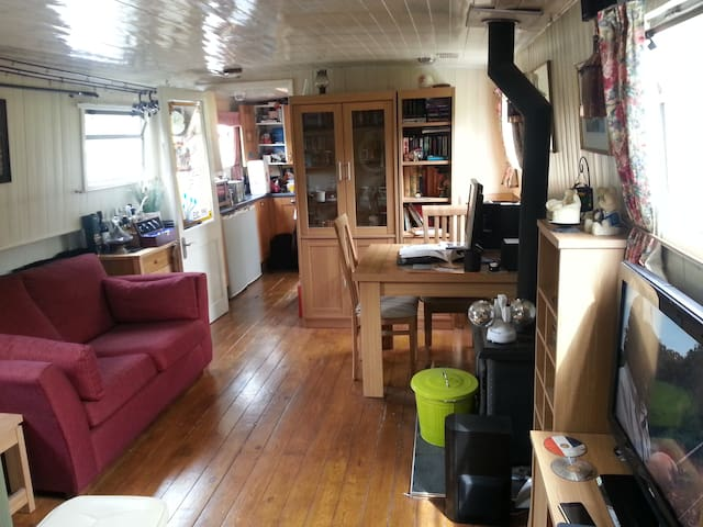 The Time Machine - beautiful barge - quiet retreat - Surrey