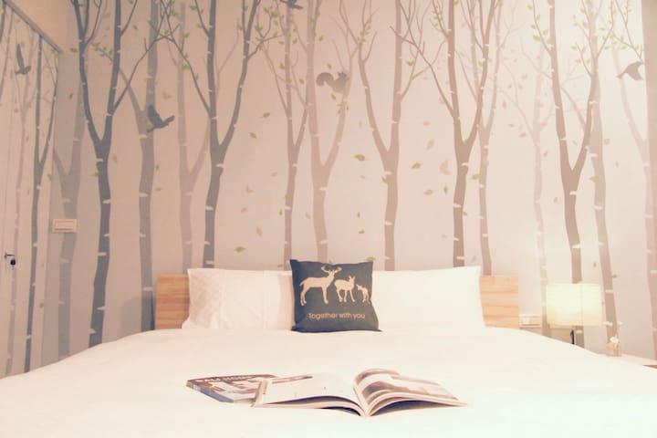 麋鹿森林雙人房(302有陽台) - 台東市 - Ev