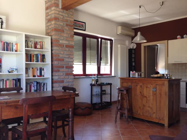 Beautiful apartment with garden - San Giuliano Nuovo - Huis