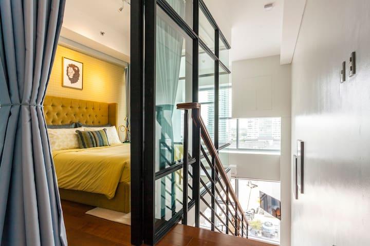 New! Sophisticated 1BR Greenbelt Loft w/ View! - Makati - Кондоминиум