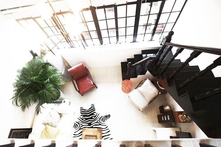 后窗 • 巨鹿路loft神奇阁楼 - Xangai - Loft