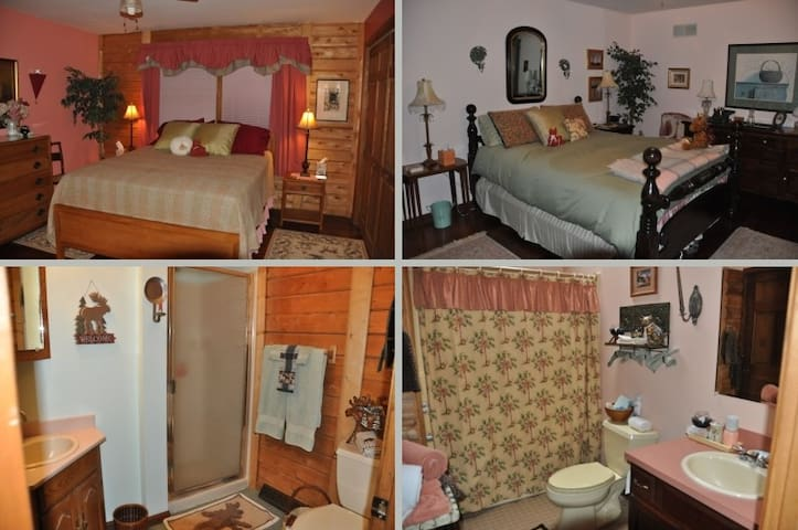 Two private rooms each w/ pvt bath - Townsend - Bed & Breakfast