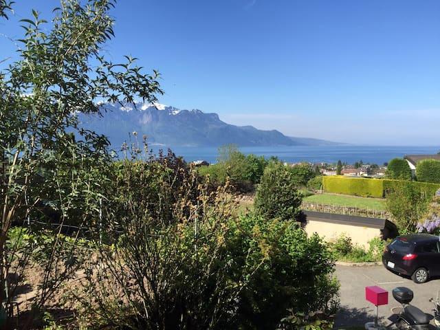 La Tour-de-Peilz- séjour entre lac et montagne - La Tour-de-Peilz - Apartament