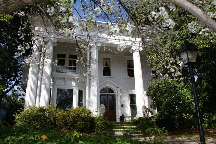 Old Columned Mansion in DOWNTOWN Historic District - Macon - Casa