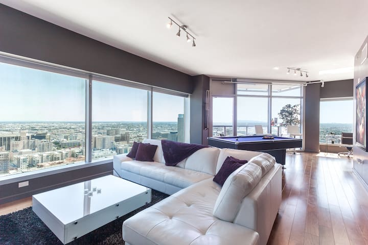 URBAN DOWNTOWN LA POOL TABLE PENTHOUSE SUITE+5BEDS - Los Angeles - Apartamento